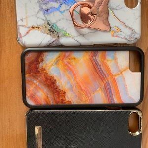 IPHONE7 CASES - BLACK, & MARBLE